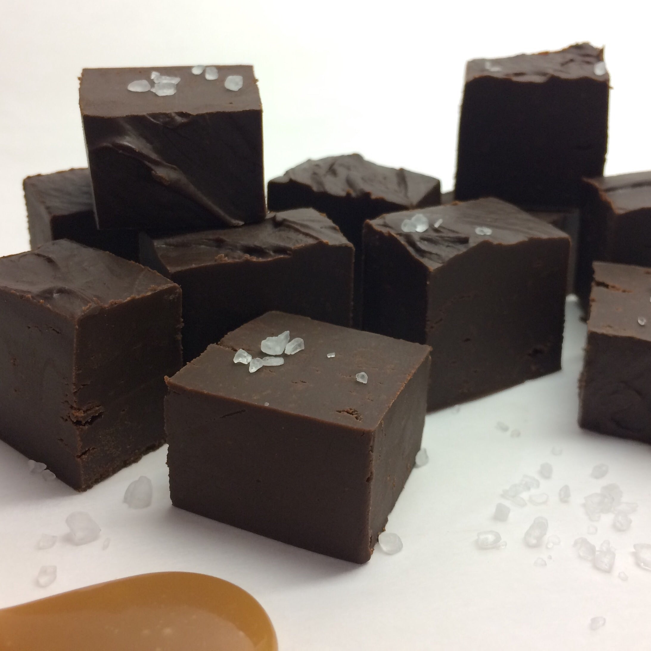 Salted Caramel (Dark Chocolate) Fudge