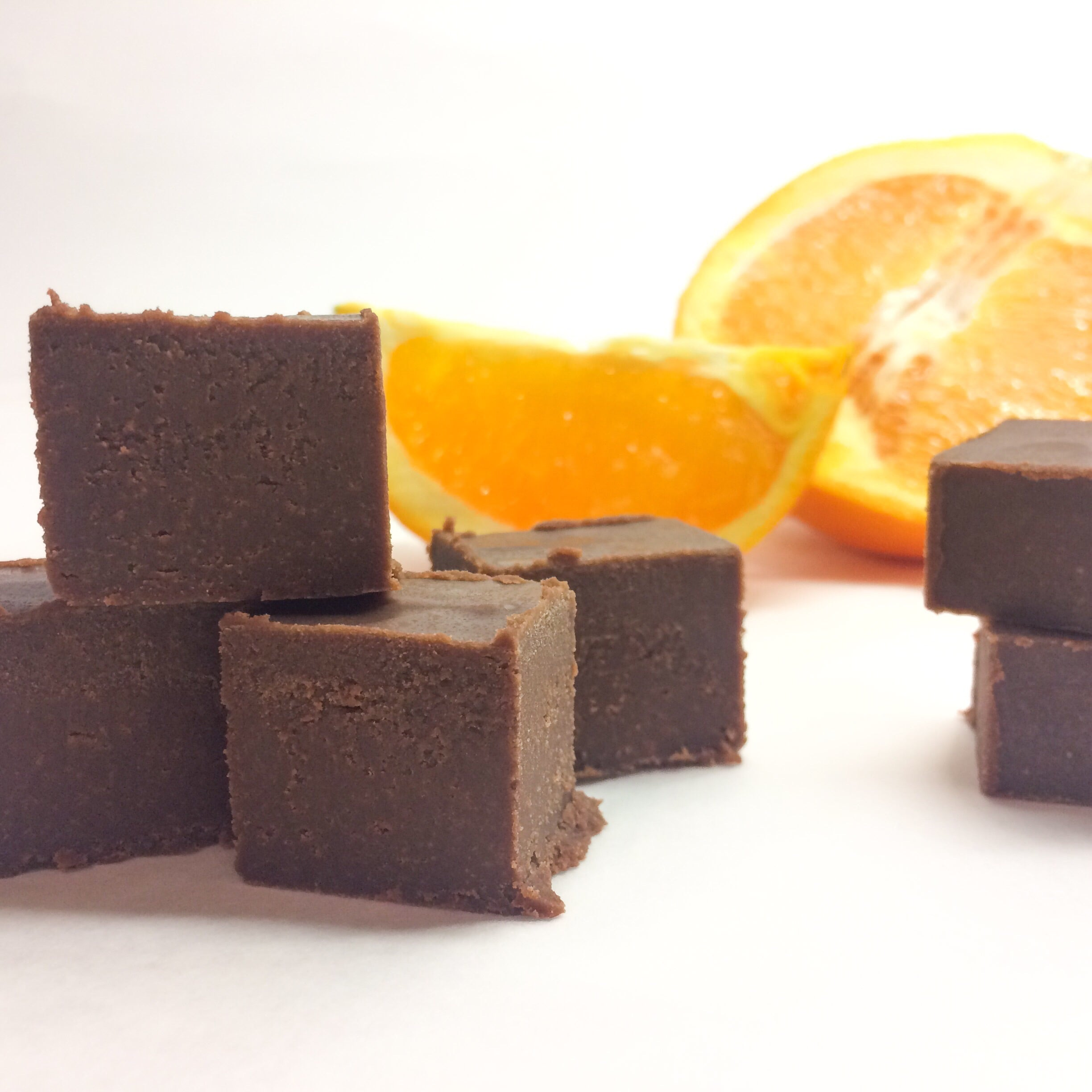 Vegan Chocolate Orange Fudge
