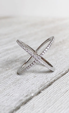Silver X Ring