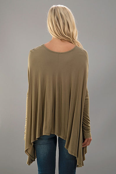 Amelia Dolman Top Olive Back
