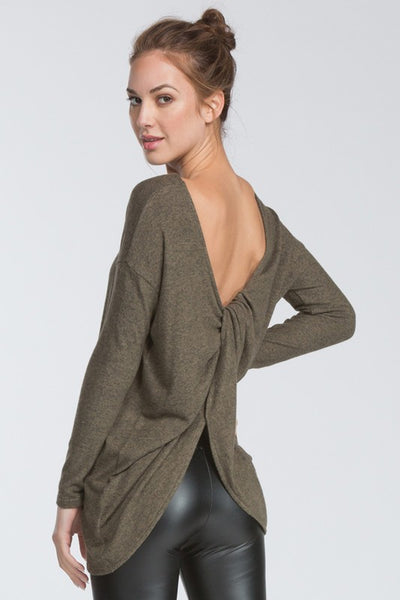Twisted Drape Back Top