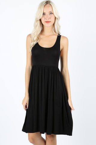 Black Empire Waist Dress