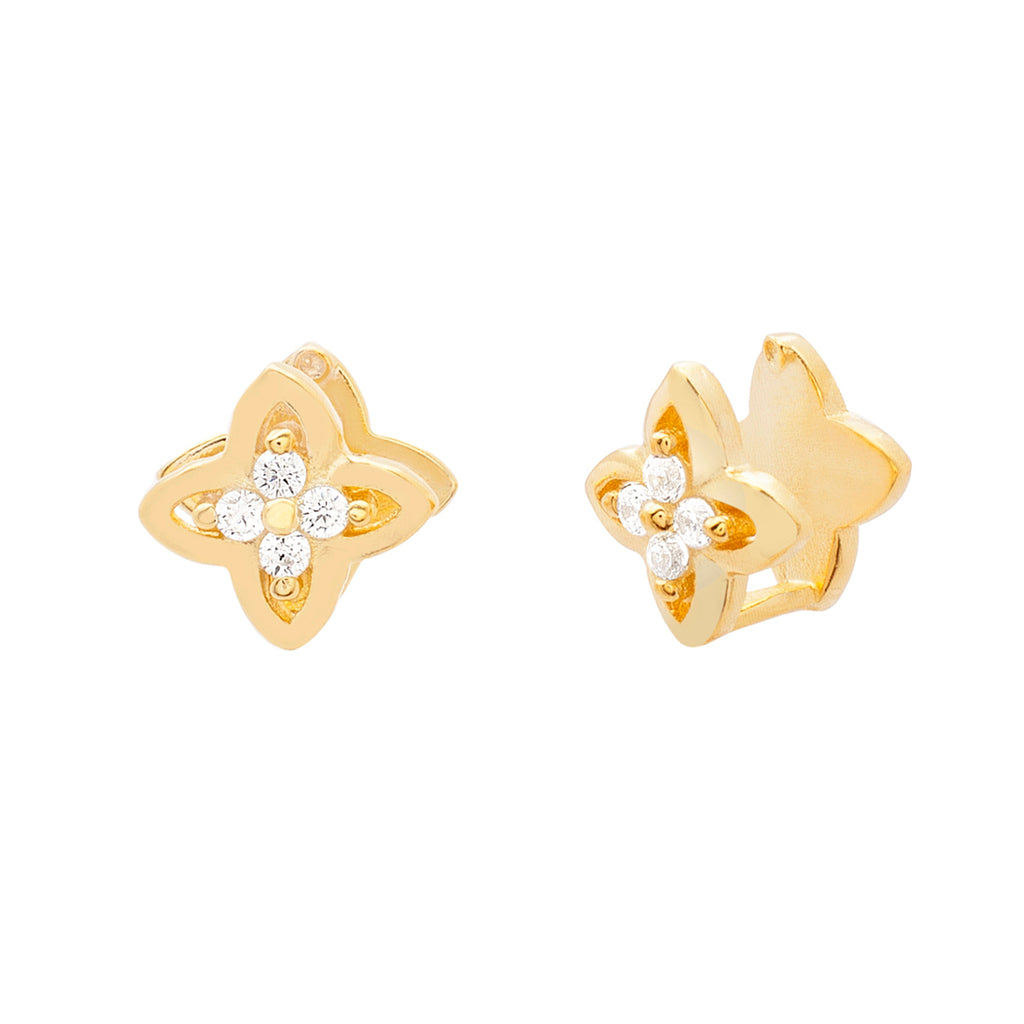 Chloe Flower Cuff Earrings