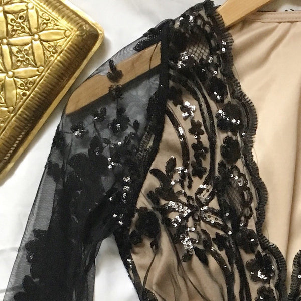 A List Sequin Romper Close Up