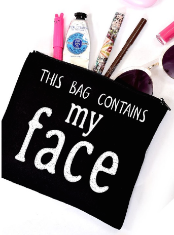 Contains My Face Makeup Bag