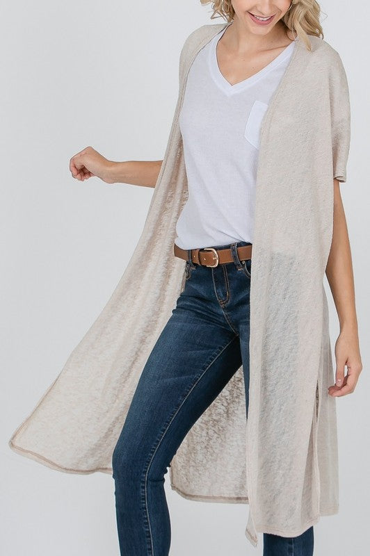 Tan Lightweight Duster