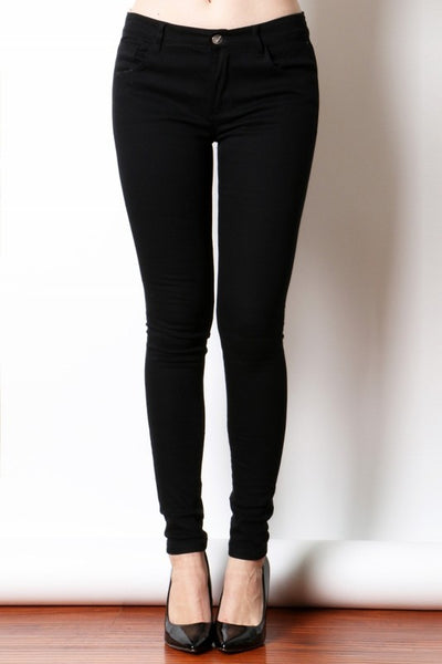 Black Twill Jeggings
