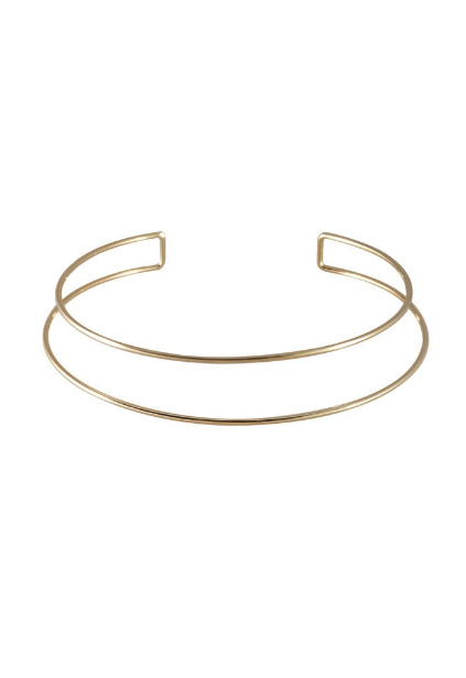 Double Bar Gold Choker