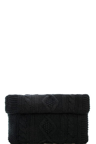 Black Knit Crossbody Bag