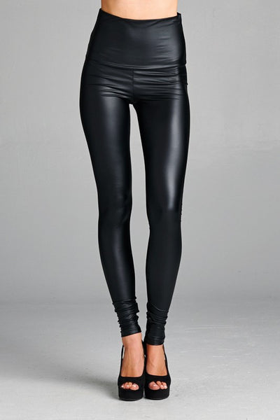 Faux High rise Leather Leggings