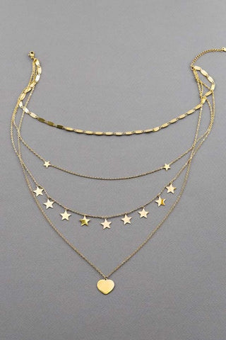 Good Wishes Layered Necklace Gold