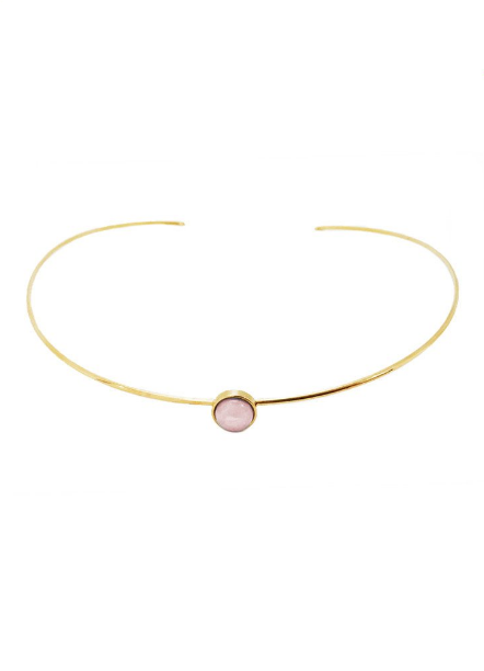 Mia rose and gold choker