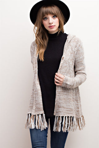 Cold Outside Fringe Cardigan