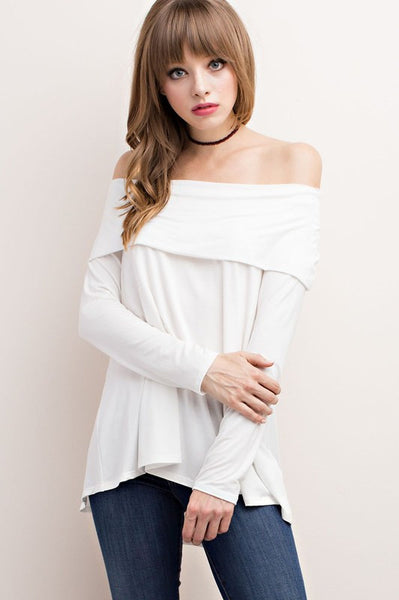 Feeling Foxy Off Shoulder Top