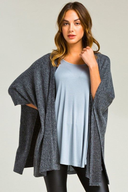 Morning Light Cardigan Charcoal