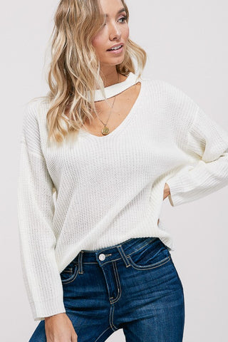 Choker Neck Sweater Ivory