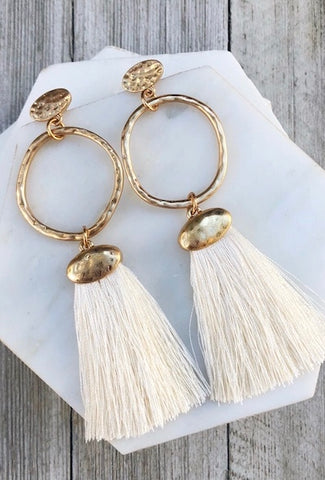 Ophelia Drop Tassel Earrings