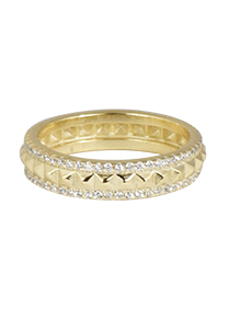 Shashi Rocker Pave Gold RIng
