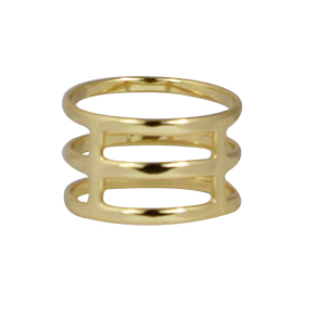 Zoey Cage Ring Gold
