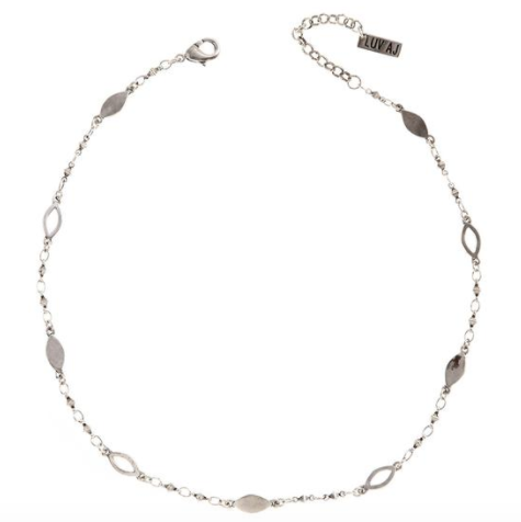 Silver Marquise Choker