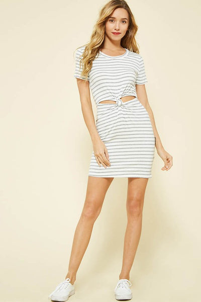 Striped Cut Out Dress
