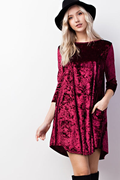 Starry Nights Velvet Dress