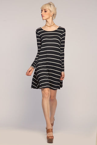 Low Back Stripe Dress