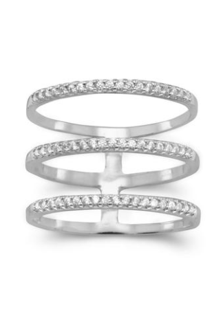 Triple Crystal Row ring