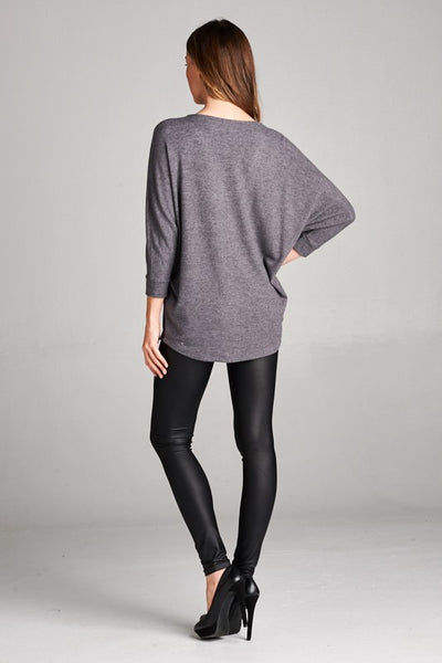 Zip It Dolman Tunic Top