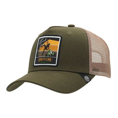 Gorra Born to Climb Green