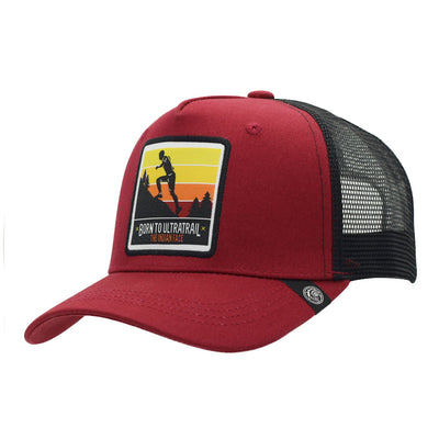 Gorra Born to Ultratrail Red and black