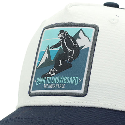 Born to Snowboard White and blue