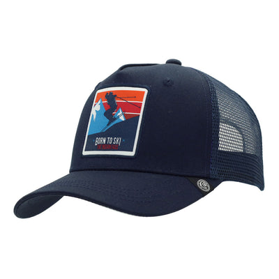 Gorra Born to Ski Blue
