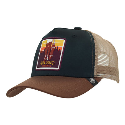 Gorra Born to Skate Blue and brown
