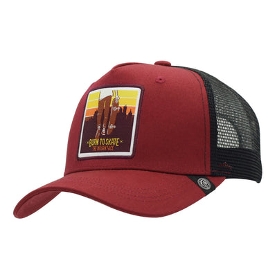 Gorra Born to Skate Red and black