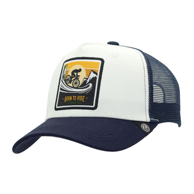 Gorra Born to Ride White and blue