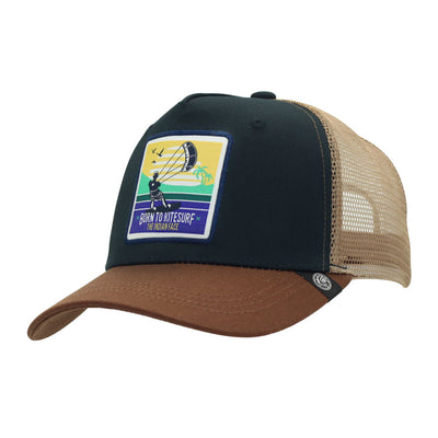 Gorra Born to Kitesurf Blue and brown