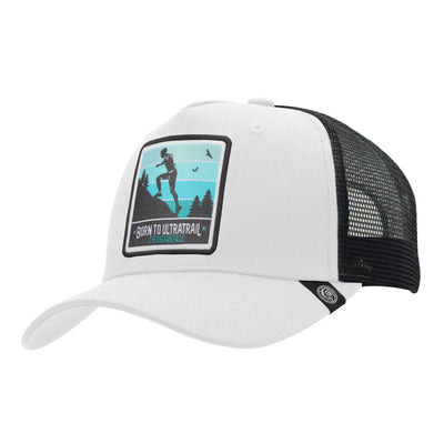 Gorras trucker Born to Ultratrail White / Black para hombre y mujer
