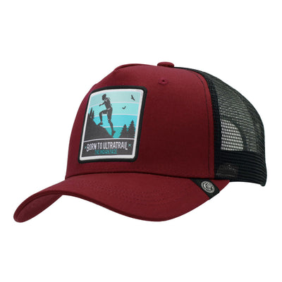Gorras trucker Born to Ultratrail Red / Black para hombre y mujer