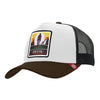 Gorras trucker Born to Ride White / Black / Brown para hombre y mujer