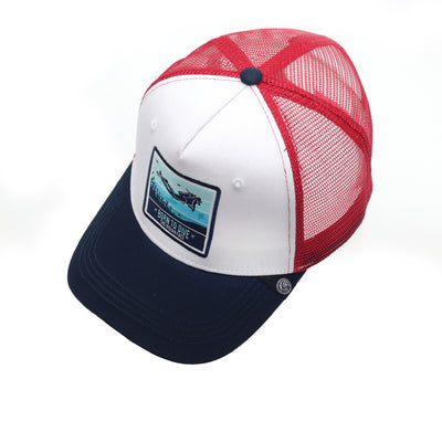 Born to Scuba Dive White / Blue / Red