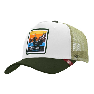 Gorras trucker Born to Paddle White / Green para hombre y mujer