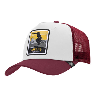 Gorras trucker Born to Roll White / Red para hombre y mujer