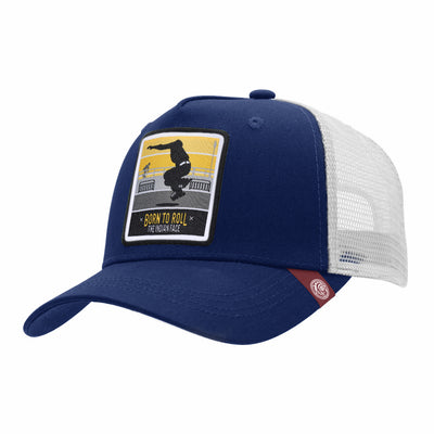 Gorras trucker Born to Roll Blue / White para hombre y mujer