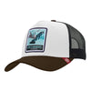 Est Trucker hats Born to Snowboard Black / White / Brown ad viros ac mulieres