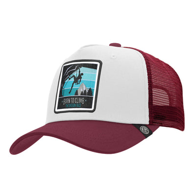 Gorras trucker Born to Climb White / Red para hombre y mujer