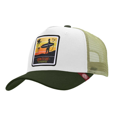 Gorras trucker Born to Surf White / Green para hombre y mujer