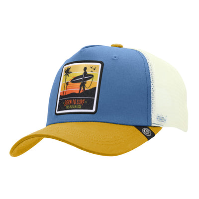Gorras trucker Born to Surf Blue / Yellow / White para hombre y mujer