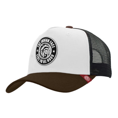 Gorras trucker Born to be Free White / Black / Brown para hombre y mujer