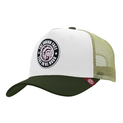 Gorras trucker Born to be Free White / Green para hombre y mujer